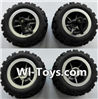 Wltoys L343 Front wheel unit(2pcs) & Rear Wheel unit(2pcs)
